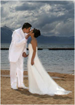 Lake Tahoe Beach Wedding
